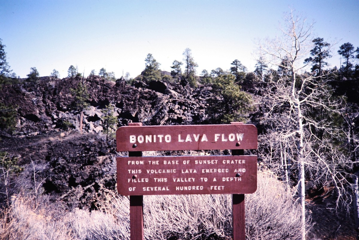 Bonito Lava Flow sign and information