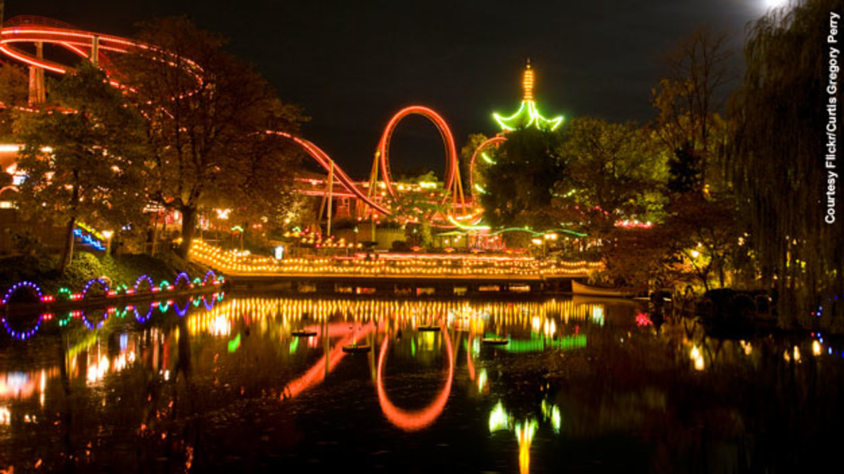 Tivoli gardens at night:)