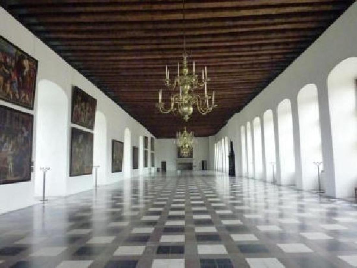 How Kronborg castle looks from the inside.