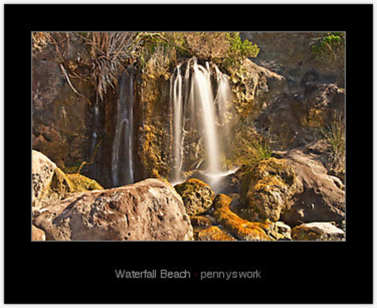 Waterfall beach in Denmark