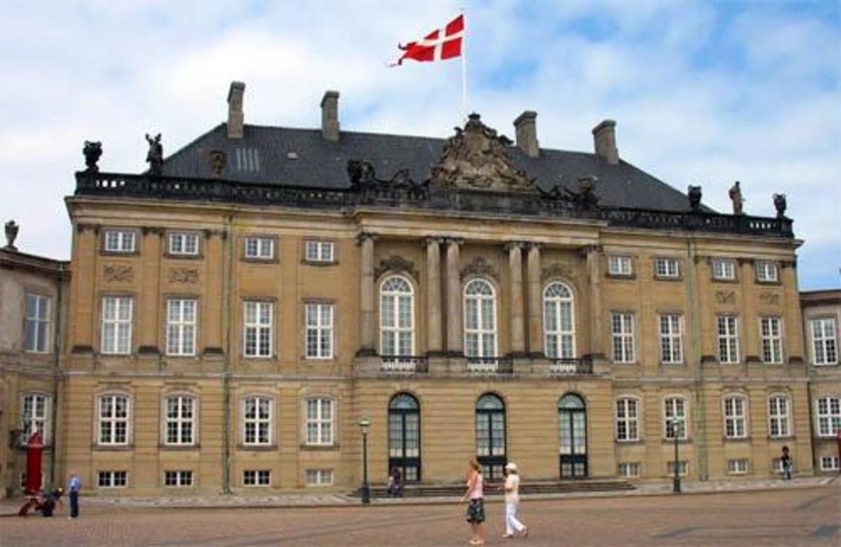 The Amalienborg castle