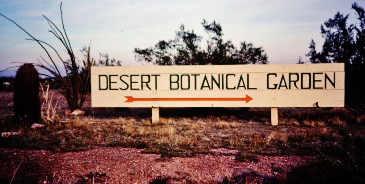 Desert Botanical Garden sign