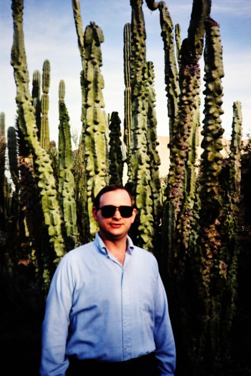 My hubby at the Desert Botanical Garden