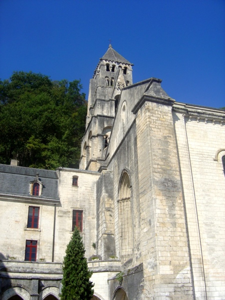 Brantome abbey church