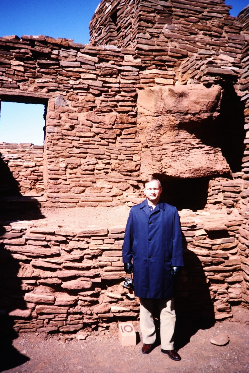 My hubby at the Wupatki National Monument.