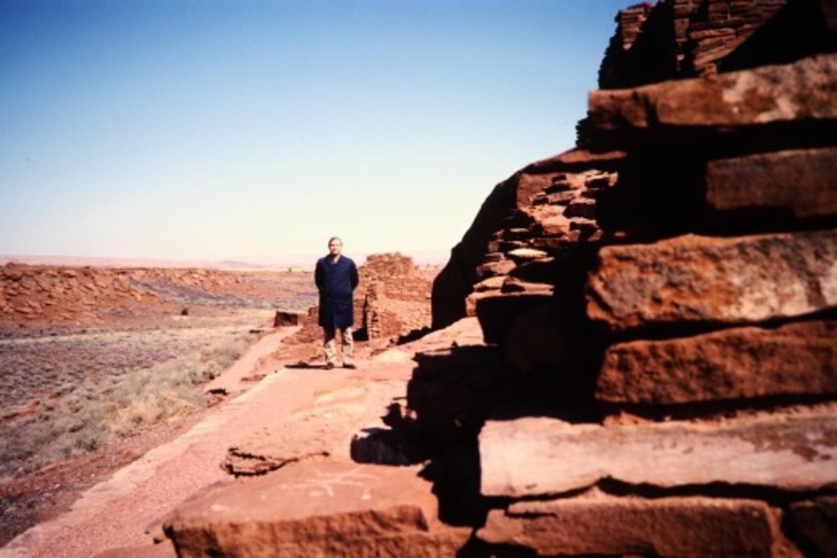 My husband at the Wupatki National Monument