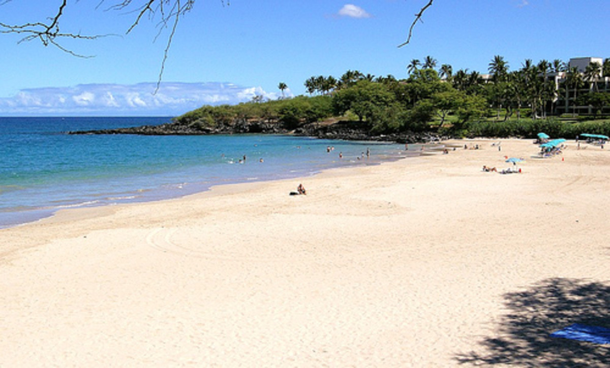 Hapuna Beach on a less crowded day