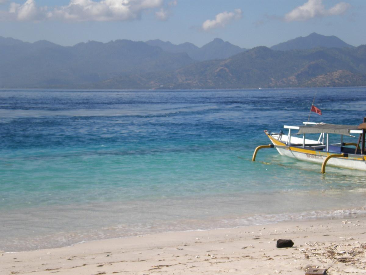 Gili Trawangan, View of Lombok.