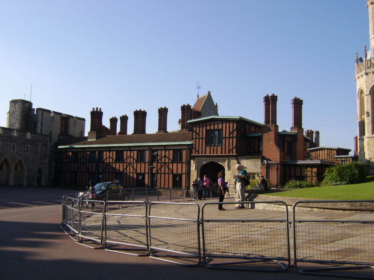 The Horseshoe Cloister was built to house members of the clergy in Windsor Castle