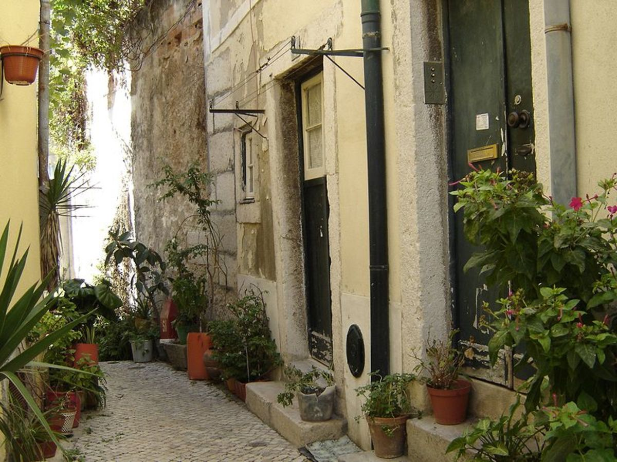 A typical alley in Alfama