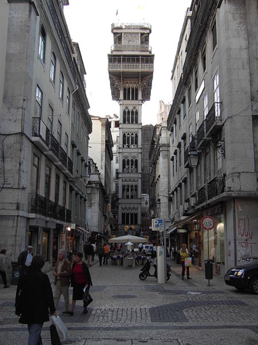 """Elevador de Santa Justa offers great views of the downtown area and a means to go """"uptown"""""""