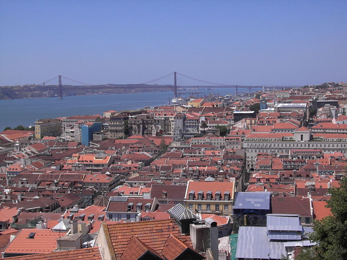 View of the river and Alfama from the Castle St. Jorge