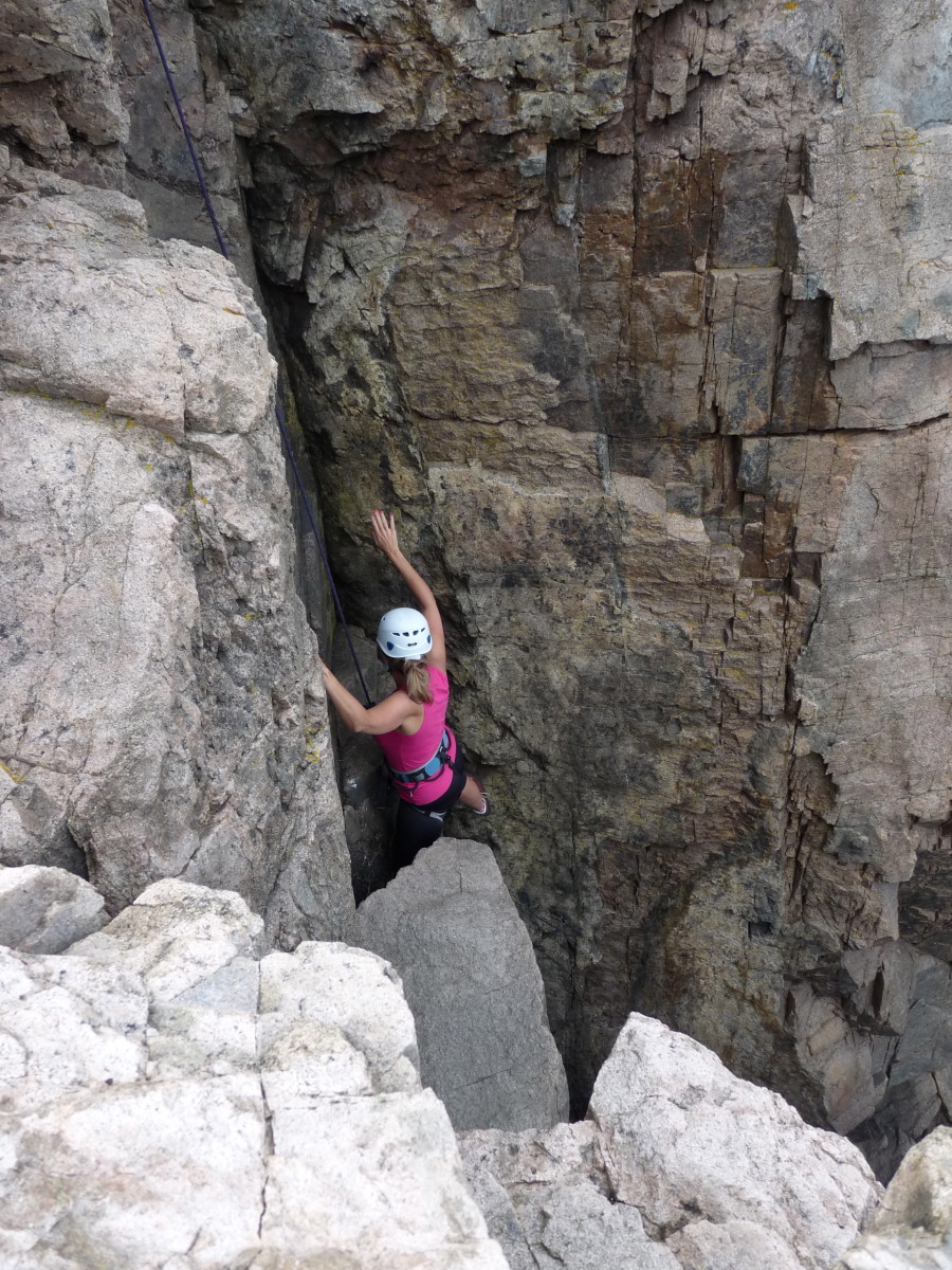 My first try at rock climbing at Otter Cliffs in Acadia National Park