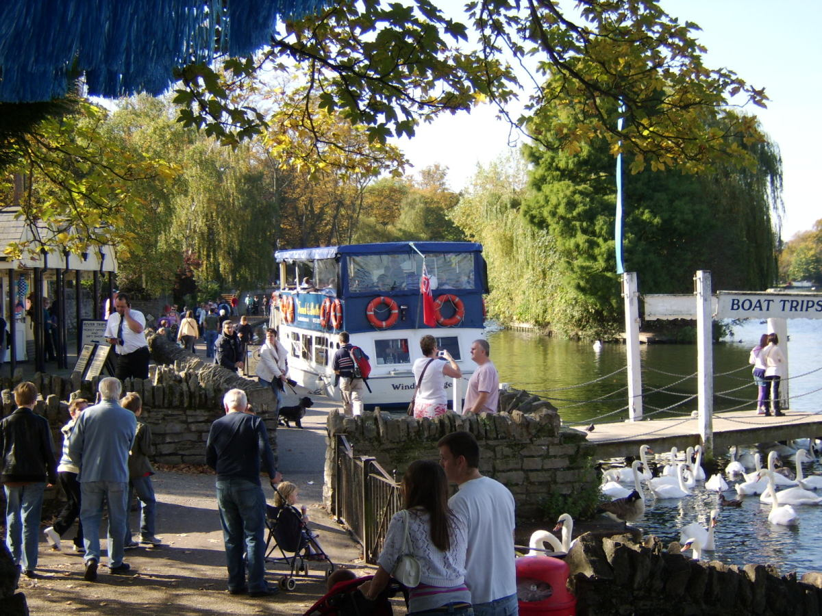 Boat trips can be taken on the River Thames from Windsor