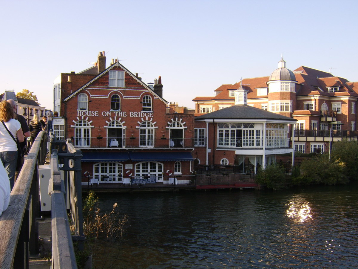 The House on the Bridge is a restaurant on the Eton side of Windsor Bridge