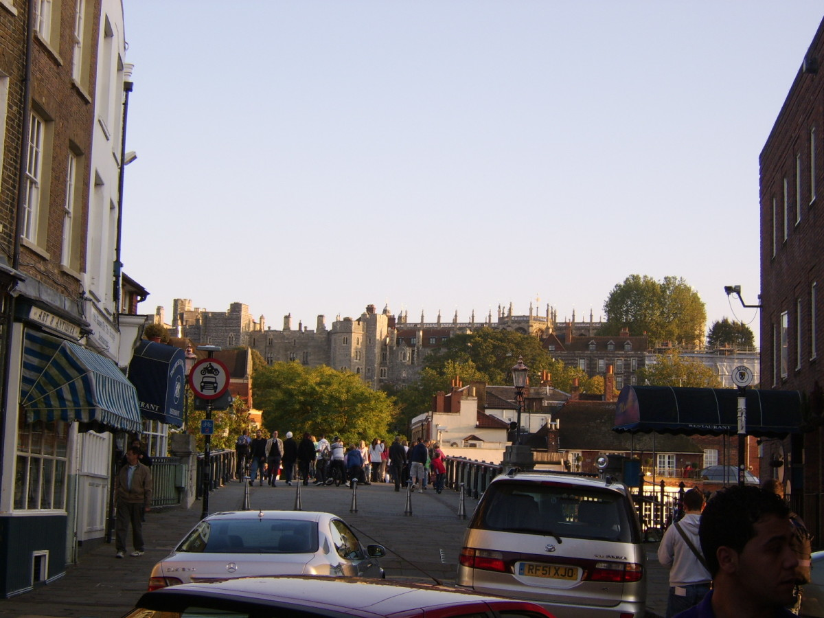 Windsor Castle viewed from the Eton side of Windsor Bridge