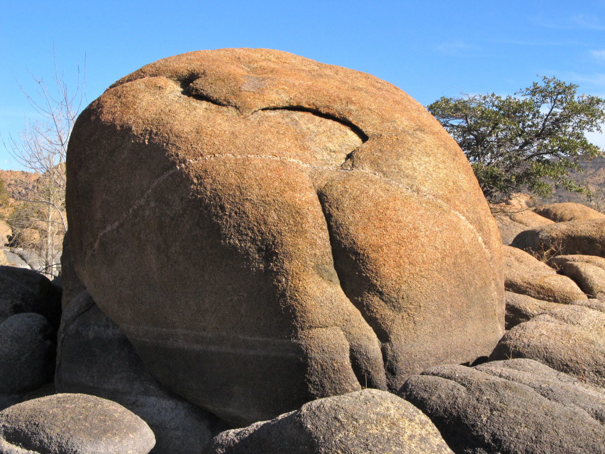 Car-sized granite boulder at Watson Lake, Prescott, AZ