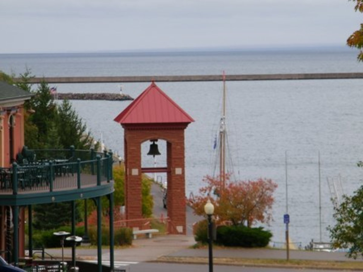 Marquette Michigan Fire Bell Tower at Washington St. and Lakeshore Blvd.