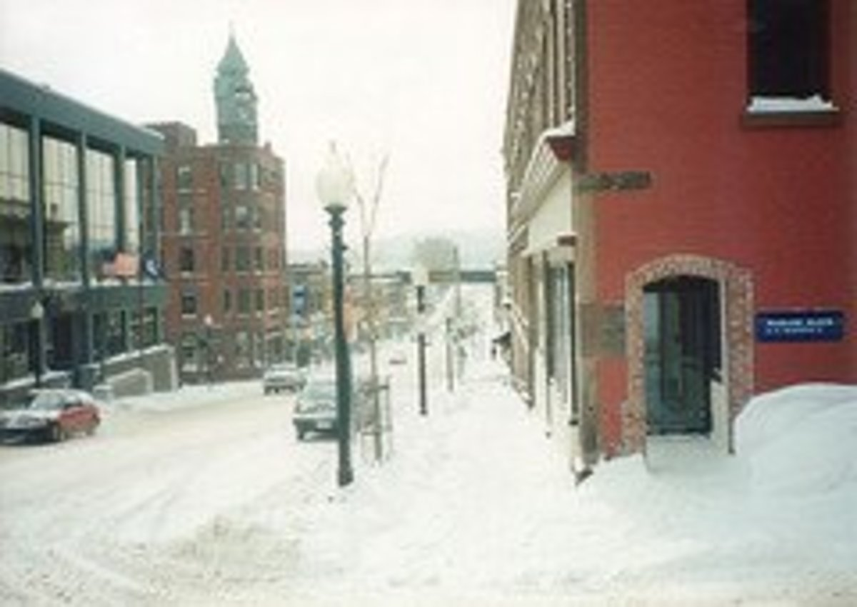 Winter scene in Marquette