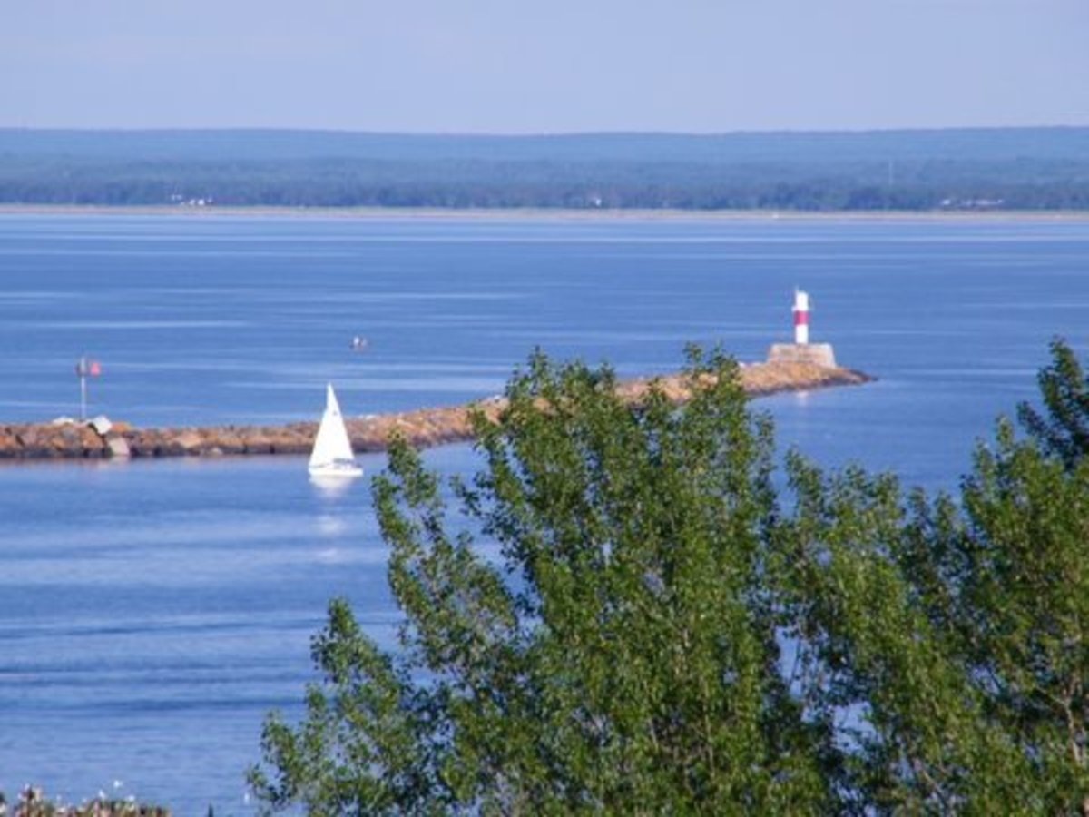 Another view of the breakwater light at Marquette, Michigan