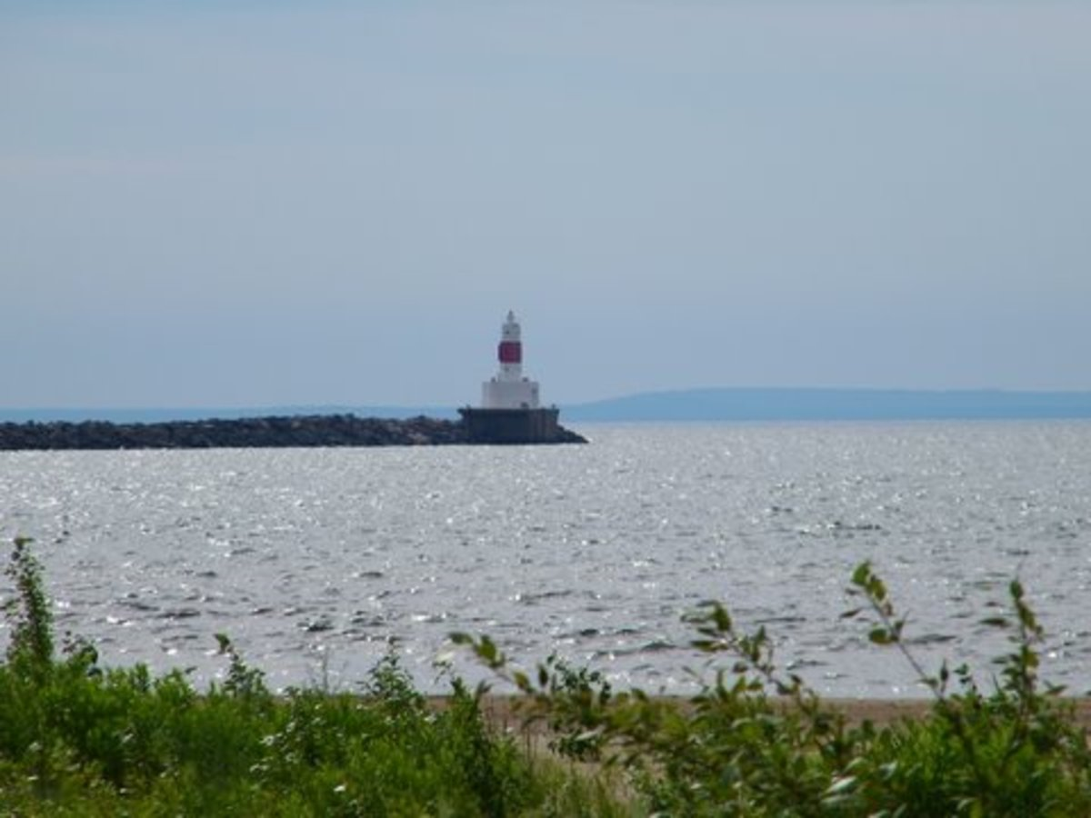 Breakwater light at Marquette, Michigan