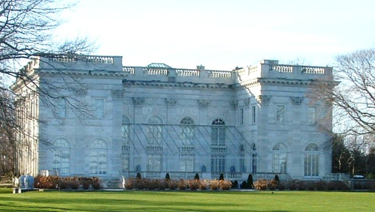 Back of The Marble House at winter time.