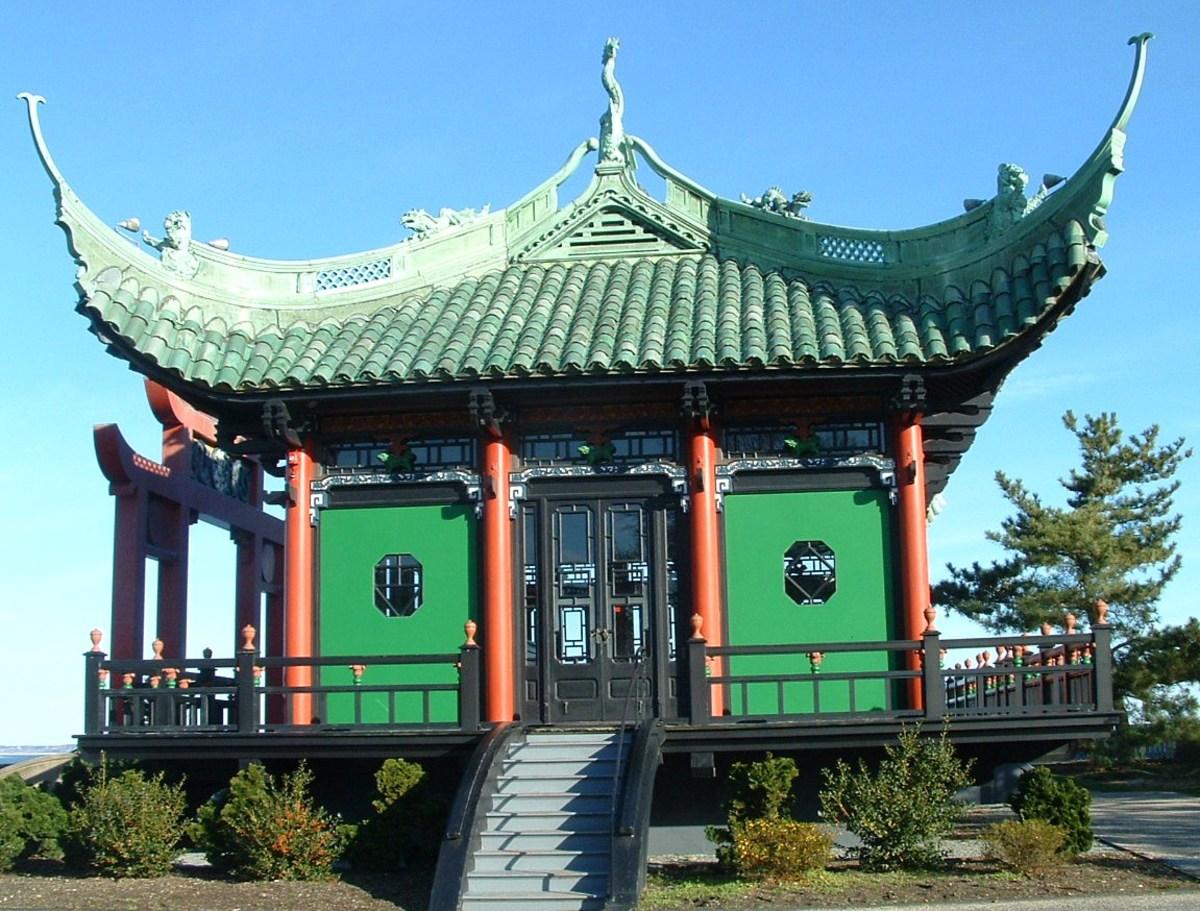 Side of Tea House.