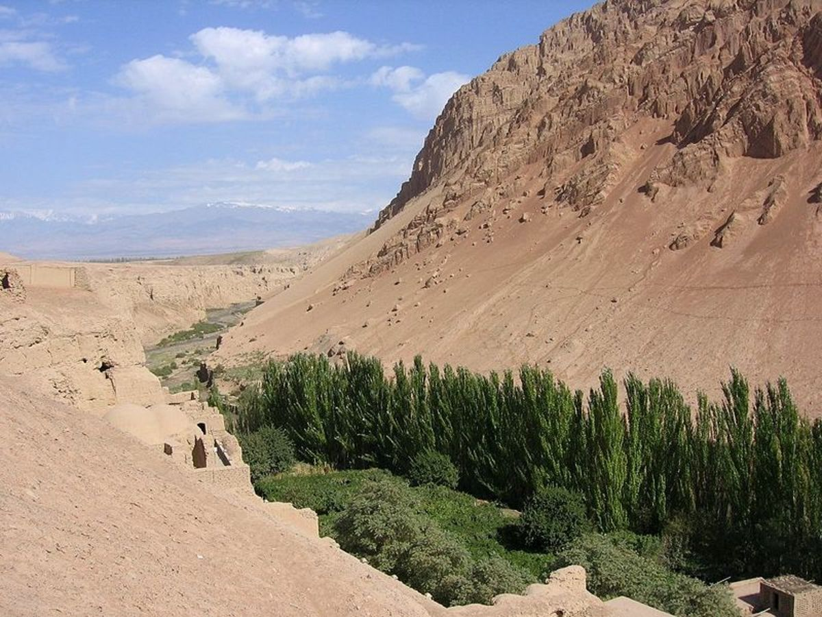 Bezeklik, Turpan Depression, China.