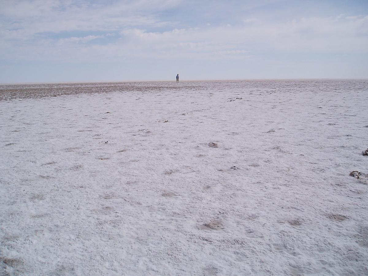 Salt Crust on Lake Eyre