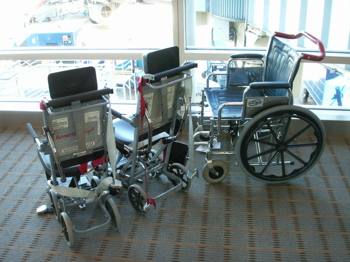 Air travel is no time to be brave and try to crutch through the terminal on your own.