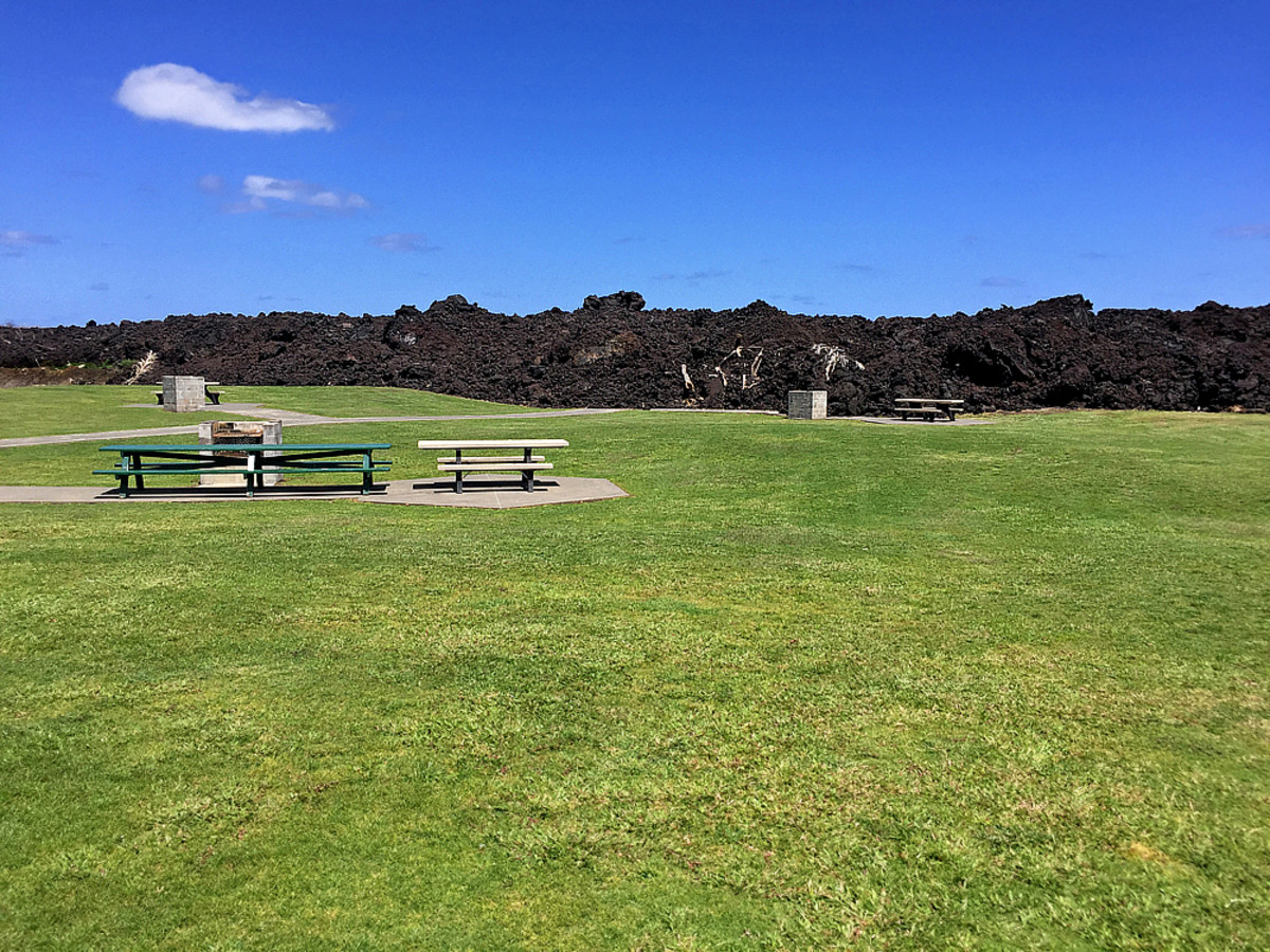 Somewhere under that mountain of lava is the children playground!