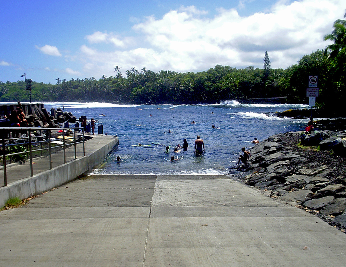 Boat ramp BEFORE the eruption.