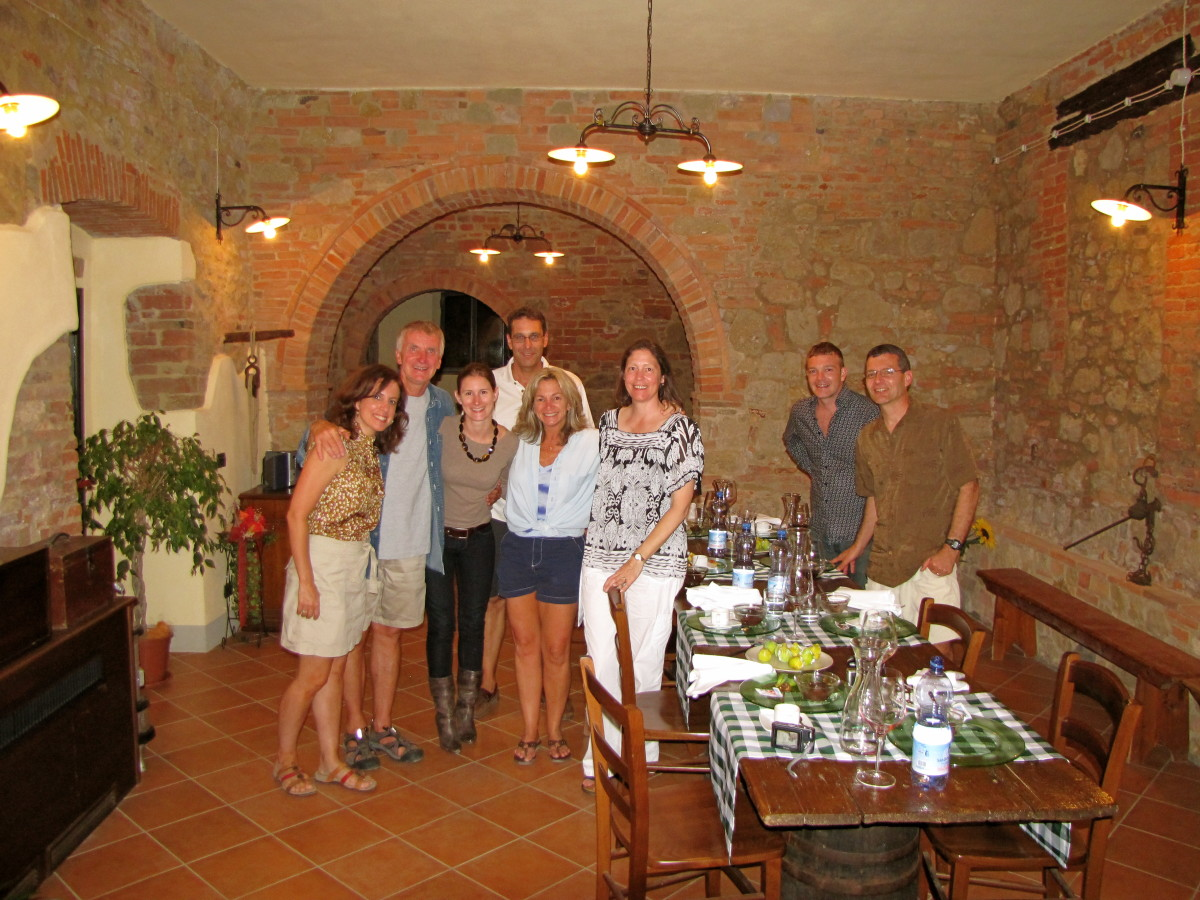 Dinner at Le Caggiole