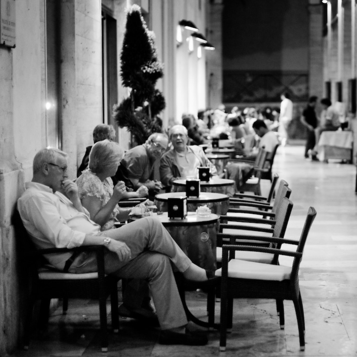 Urbino is a wonderful place to sit and enjoy an evening with friends at one of the many local cafes.