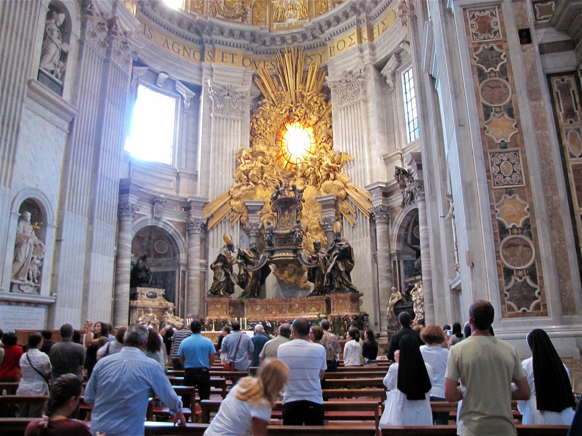 Just after Mass in the Apse of St. Peter's
