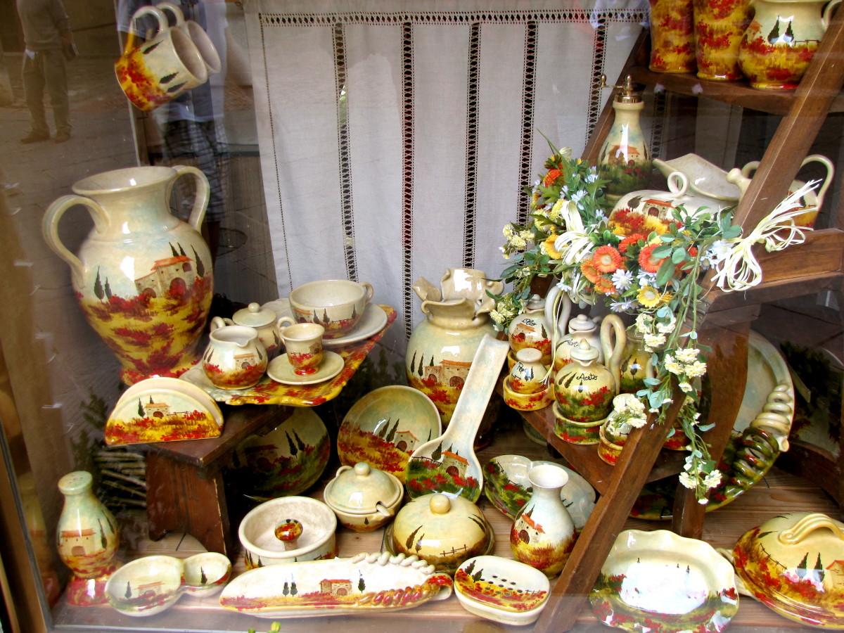 Beautiful Tuscan Pottery.