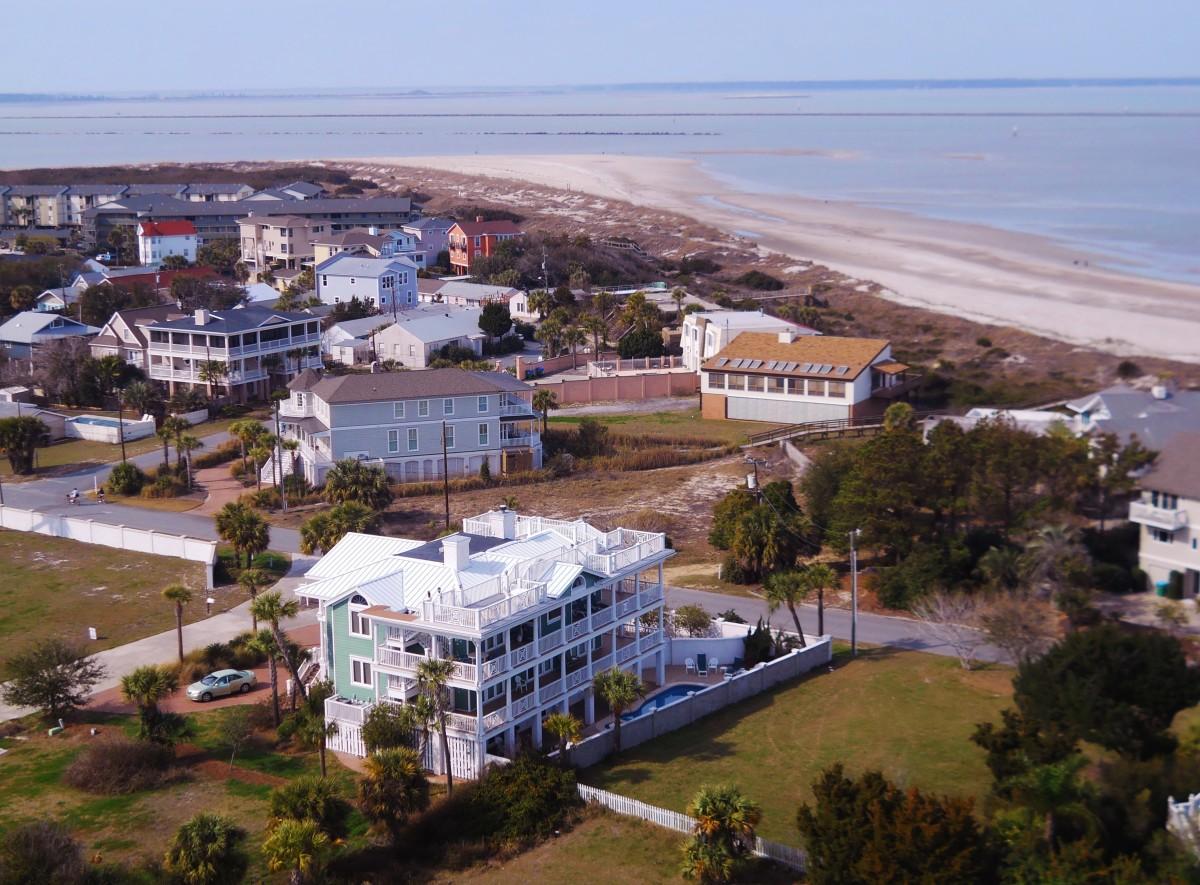 View from top overlooking Atlantic Ocean.