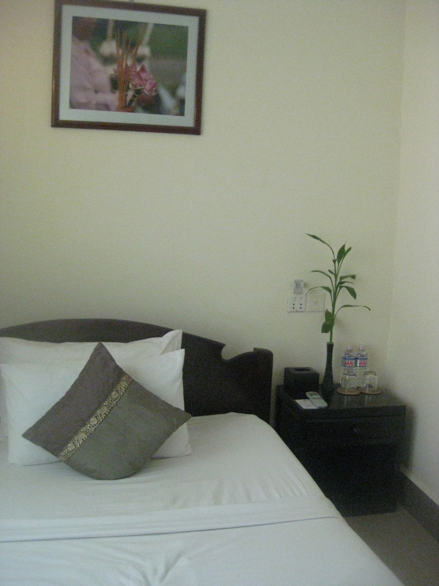 A guest house room I stayed at in Siem Reap