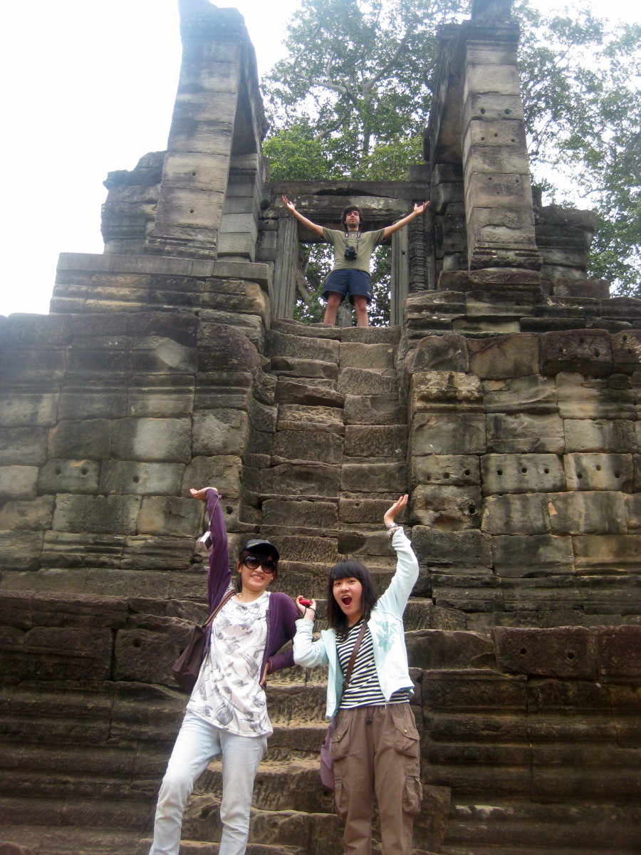 On top of the world at Angkor Wat
