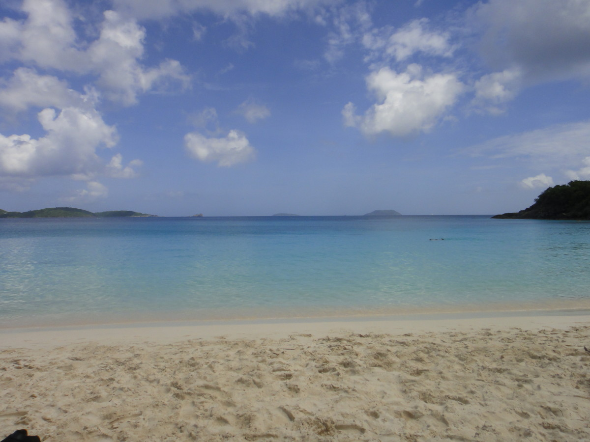 The beach at Trunk Bay, St. John, USVI