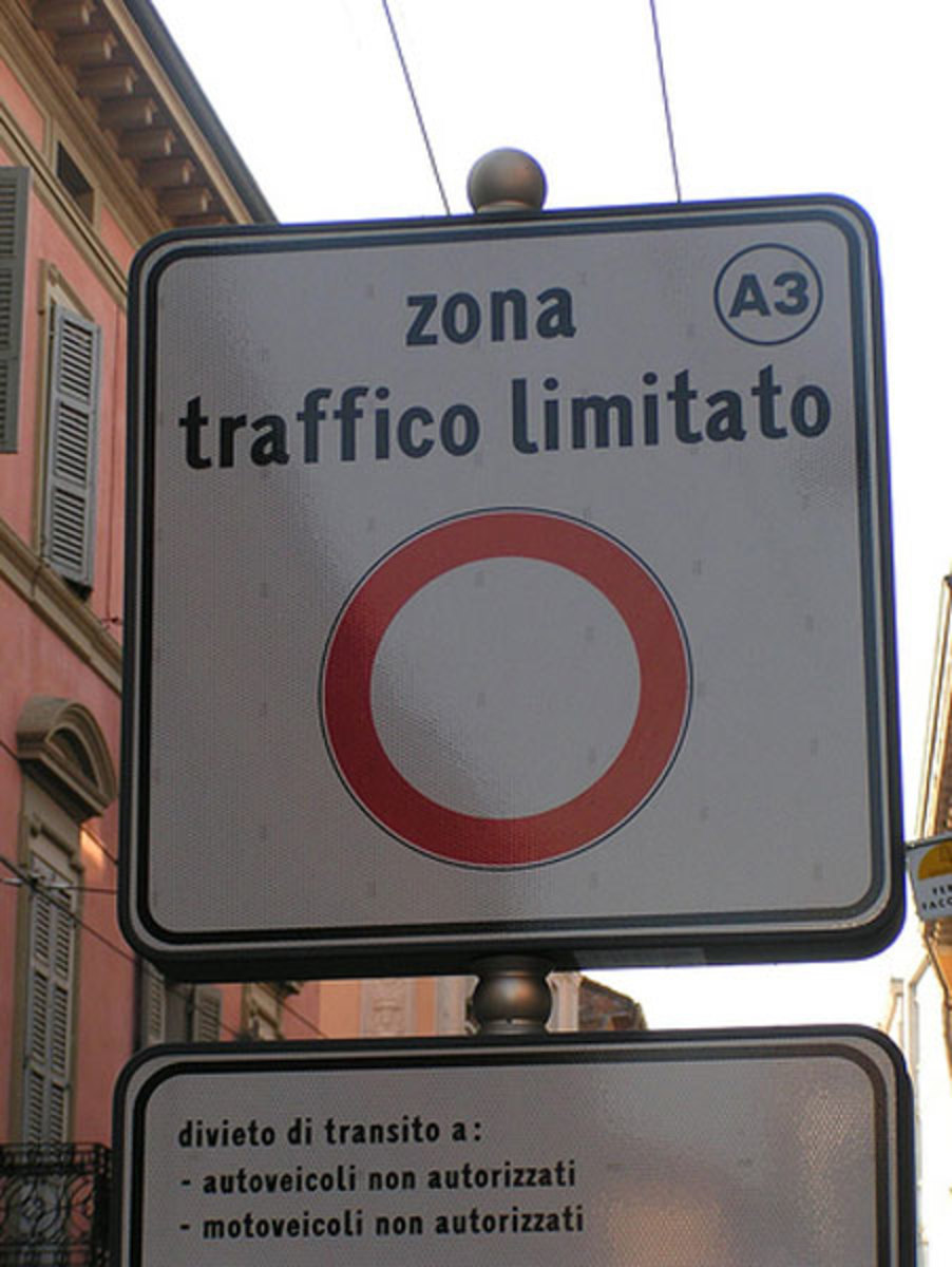 Limited Traffic Zone:  ZTL