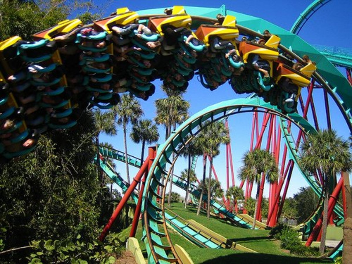 Busch Gardens Tampa - lots of rollercoasters
