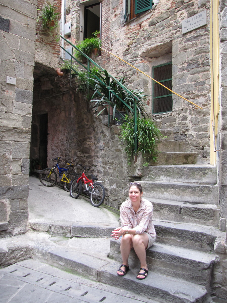 IL Girasole Apartment in Corniglia.   Paid 65 euro per night.