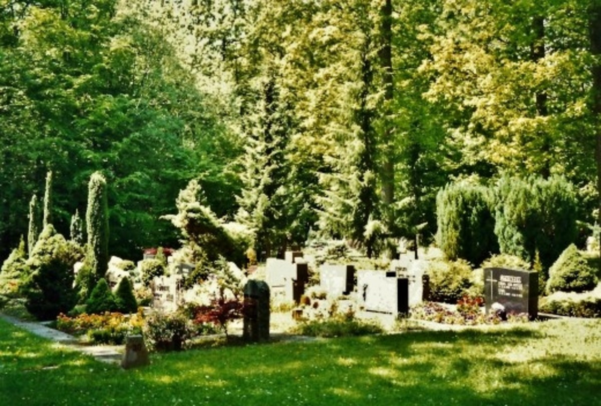 Forest cemetery (Wald - Friedhof) in Herrenberg, Germany