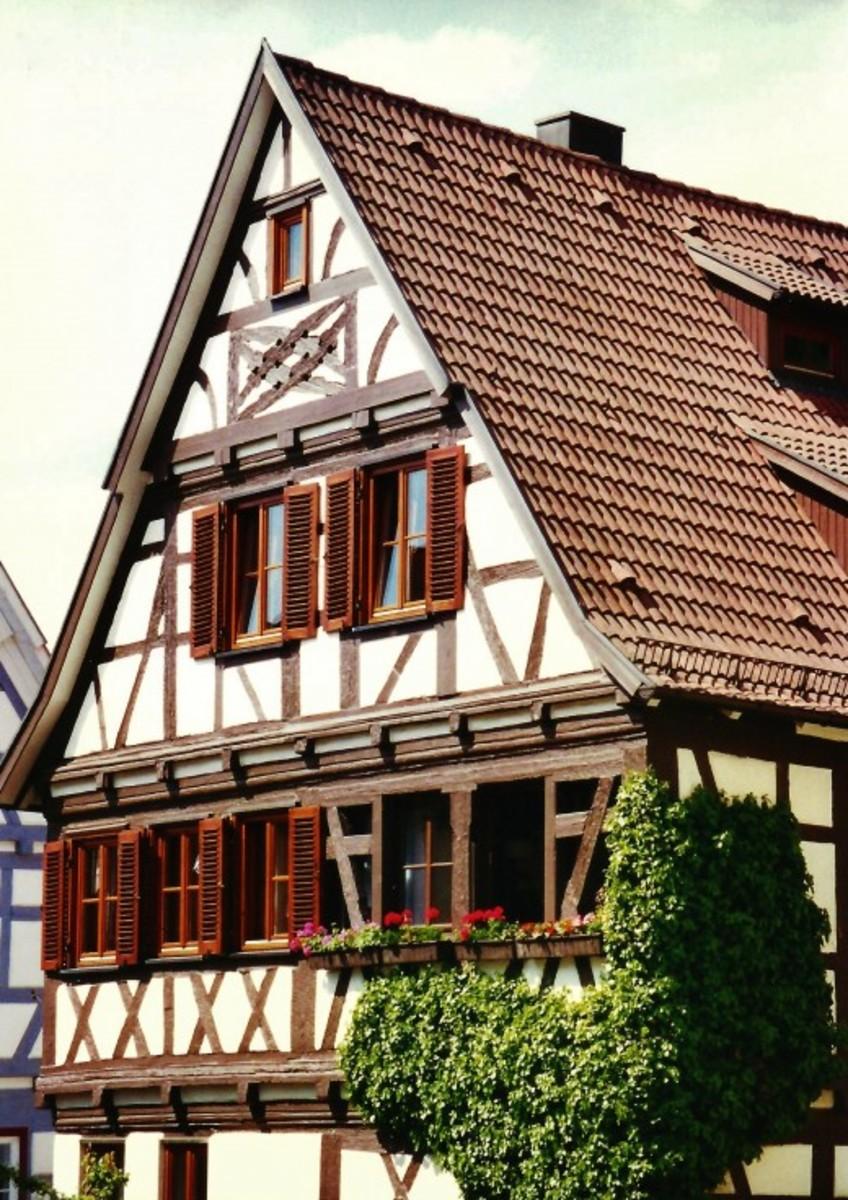 Cross-timbered (half-timbered) house in Herrenberg