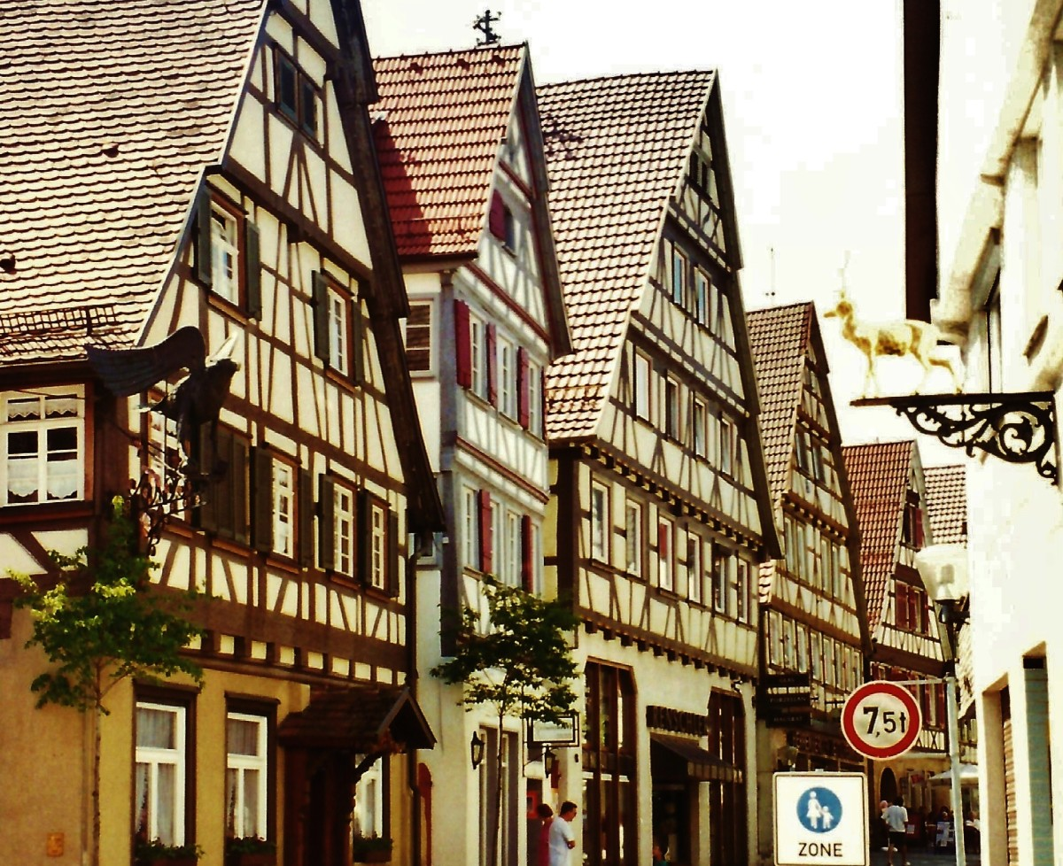 Cross timbered houses in Herrenberg, Germany