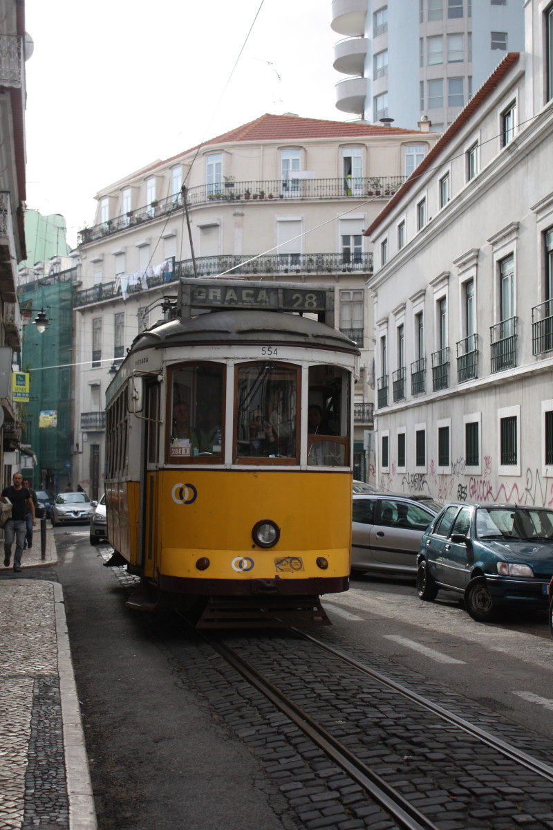 This is a photo I took of the iconic Tram 28 in Lisbon.