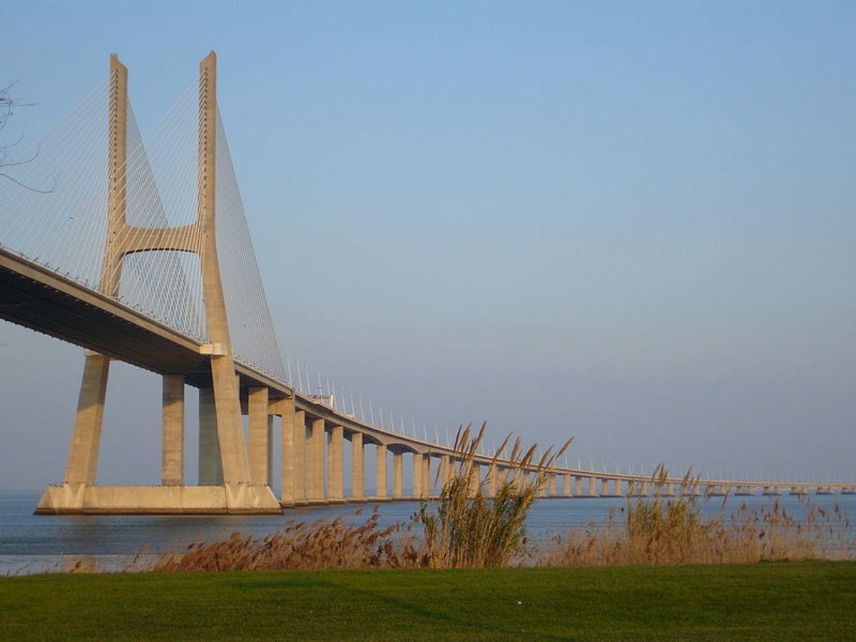 Vasco da Gama Bridge was the longest in Europe until 2018.