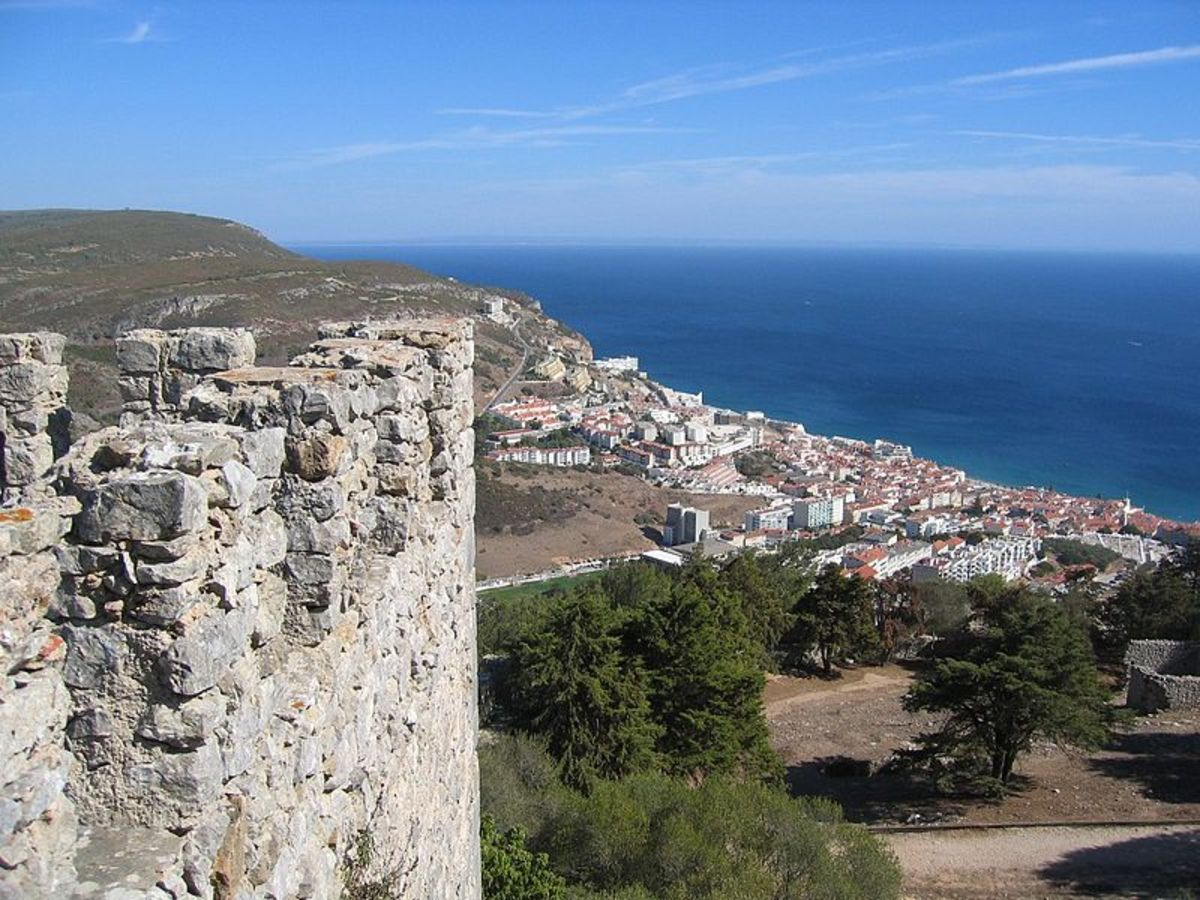 View of Sesimbra from the fortress