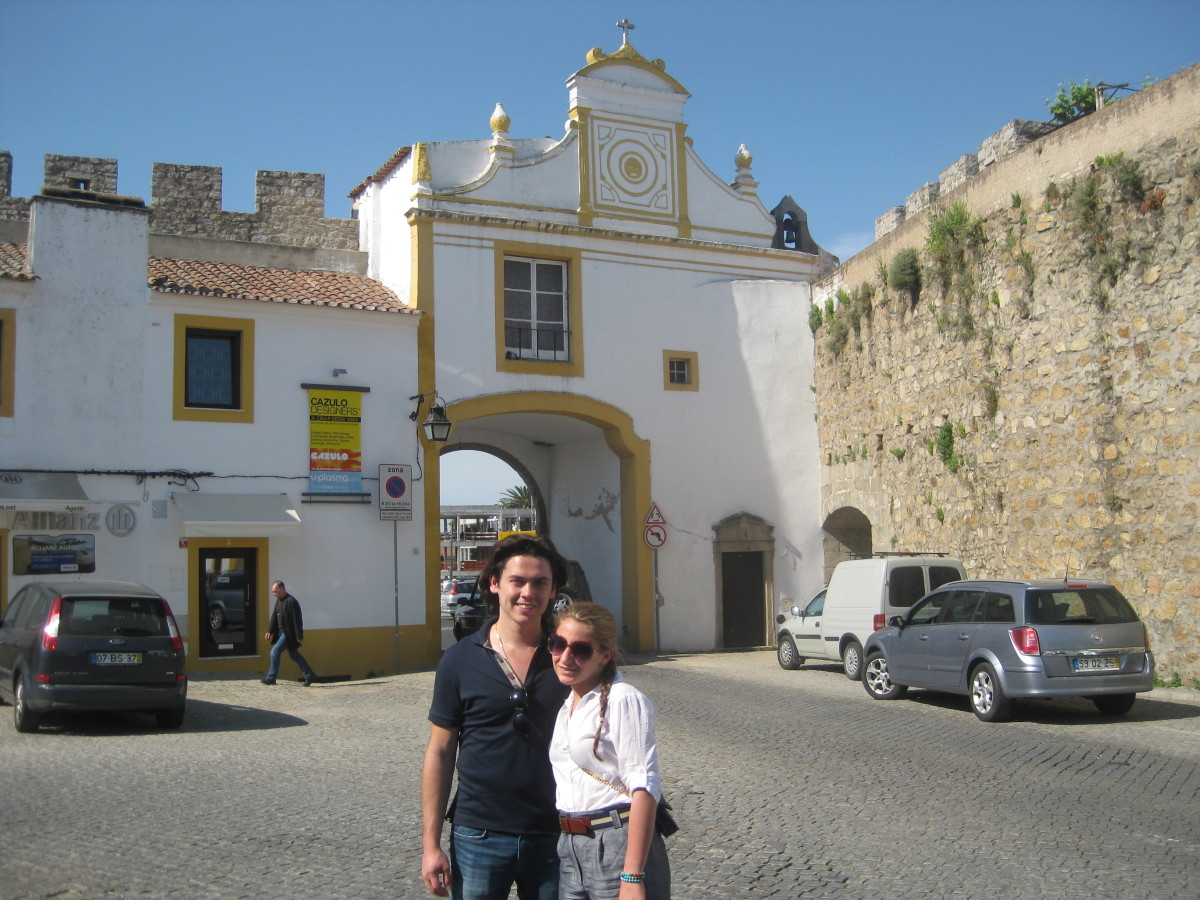 One of the entrances to the walled city of Evora